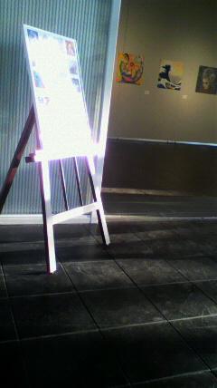 アートカイト展の看板