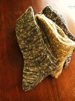 ブラウンの靴下