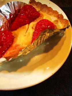 クリームと苺のタルト
