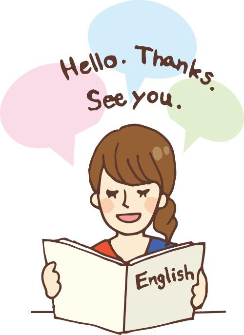 英語を勉強している女性